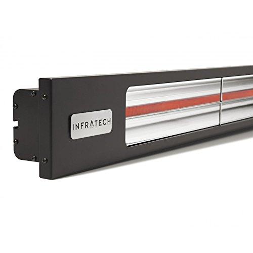 Infratech SL3024BL Slim Line - Single Element 3,000 Watt Patio Heater, Choose Finish: Matte Black Finish