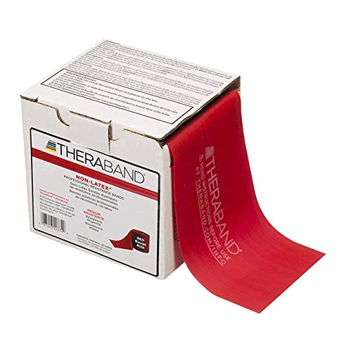 TheraBand Rubber Professional Resistance Band  Red, 25 Yards