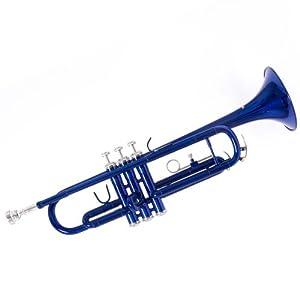 Mendini by Cecilio MTT-BL Trumpet, Blue, Bb