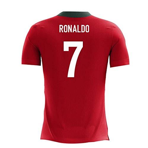Portugal Replica Jersey - 2018-2019 Portugal Airo Concept Home Football Soccer T-Shirt Jersey (Cristiano Ronaldo 7) - Kids