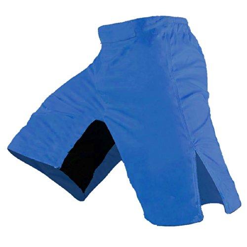 Quality MMA Shorts - Blank No Logo (40, Royal Blue)