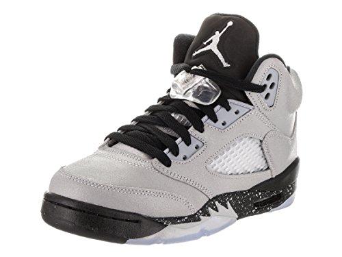 Nike Damen Air Jordan 5 Retro Gg Basketballschuhe Gris (Wolf Grey / Black-Black)
