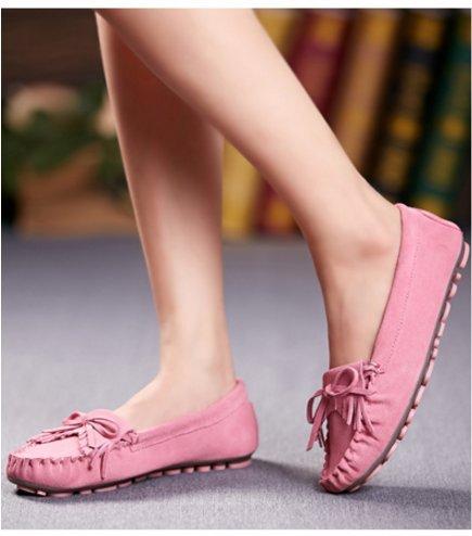 Chaussures de Doug/Flats Saleh de flux pour le summer Lady/Chaussures occasionnelles de cuir clair-C Longueur du pied=24.8CM(9.8Inch)