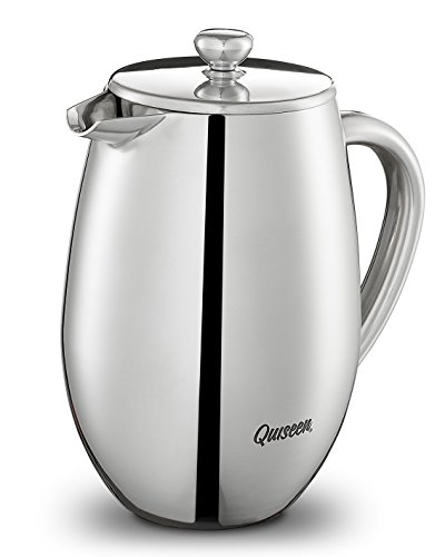 instecho Double Wall Stainless Steel French Press Coffee Mak
