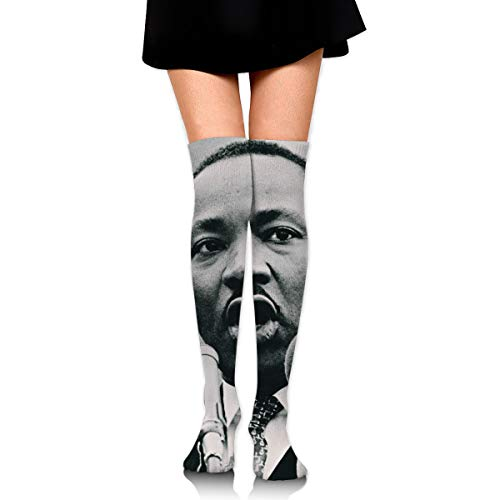 MLK Day Martin Luther King Jr Speech Female Ladies Women Girl Teen Kid Youth Leg Tall Mid Thigh High Knee Long Tube Over The Knee Stocking Costume Gifts Clothes Dresses Apparel Thy Thi Hi ()