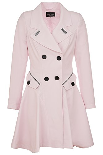 Women's Mac Spring Fit & Flare Laced Back Coat Pink