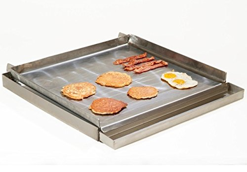Uniworld 24'' x 24'' 4 Burner Lift-off Griddle Top with Grease Tray, Made from 7 Gauge Steel. Model UGT-MC24 by Uniword