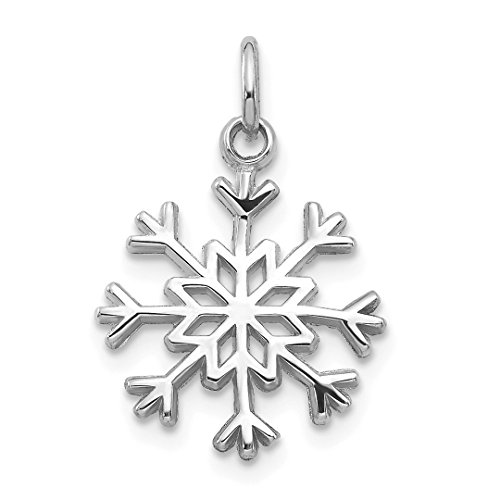 ICE CARATS 14kt White Gold Snowflake Pendant Charm Necklace Holiday Fine Jewelry Ideal Gifts For Women Gift Set From Heart