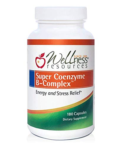 Super Coenzyme B Complex – Highly Absorbable Coenzyme B Vitamins MethylFolate for Energy, Stress, Hair 180 Capsules