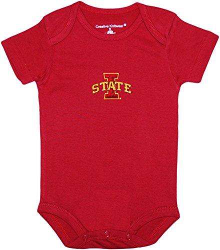 Iowa State University Cyclones Newborn Baby Bodysuit,Crimson,0-3 Months