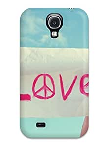 Excellent For Case Ipod Touch 4 Cover PC Cover Back Skin Protector Peace Sign Love Written Paper In Girl Hands