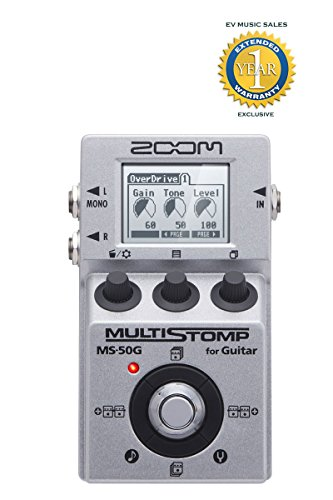 Zoom MS-50G Multistomp Guitar Pedal with 1 Year Free Extended Warranty by Zoom