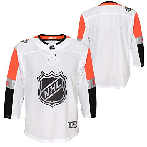 - Outerstuff Youth 2019 NHL All Star Game Pacific Premier Player White Jersey (Youth S/M)