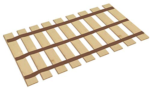King Size Wood Bed Slats - Cut to The Custom Bed Width of Your Choice with Heavy Duty Thick Brown Straps-Help Support Your Box Spring and Mattress (77