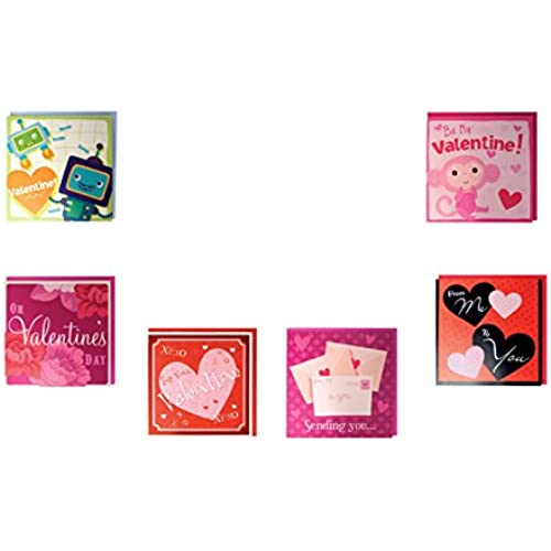 B-THERE Assorted Pop-Up Valentines Day Cards Box Set, 6 Varieties Between Adorable, Funny & Heart Warming Card Assortment for Him/Her Sales