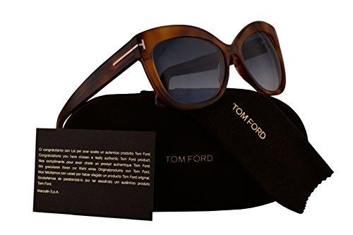 Tom Ford FT0524 Alistair Sunglasses Blonde Havana w/Blue Gradient Lens 53W - Ford Glasses Tom Sale