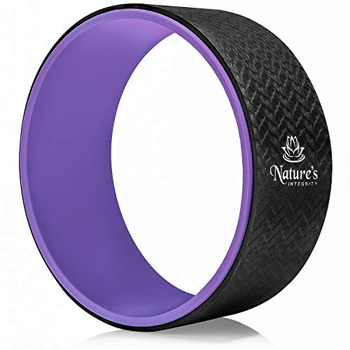 Nature's Integrity Yoga Wheel 13' - [Elite Series] Strongest, Most Comfortable Dharma Yoga Roller - Improve Yoga, Back Pain, Stretching, Backbends - Sweat Resistant & Eco-Friendly - Guide Included