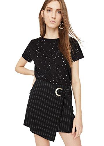 mango-womens-printed-cotton-t-shirt-black-m
