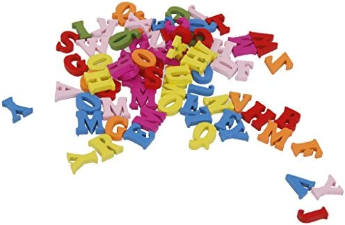 SONONIA 200個 カラフル 木製 アルファベット 英字 装飾 工芸品 手芸用 DIY