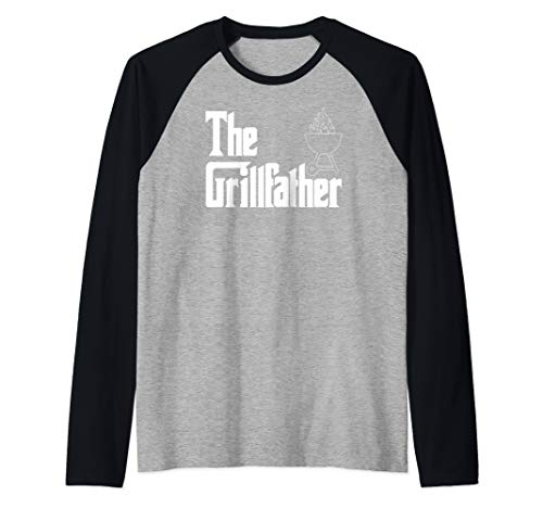 Mens Men's The GrillFather Grilling Dad Funny Grill Father Gift  Raglan Baseball - Team Roast Good