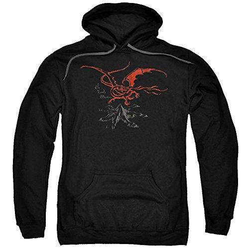 The Hobbit Desolation of Smaug Movie Smaug Adult Pull-Over Hoodie