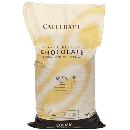 Belgian Dark Chocolate Baking Callets (Chips) - 52.3 % - 1 bag, 22 lbs ()