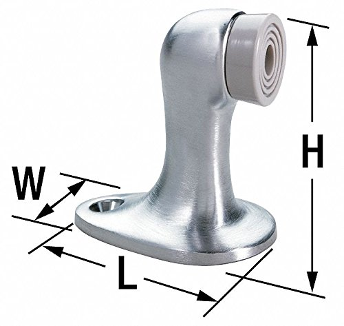 Rockwood 471.10 Bronze Door Stop, 8 x 3/4'' OH SMS Fastener with Plastic Anchor, 2-1/2'' Base Diameter x 3'' Height, Satin Clear Coated Finish
