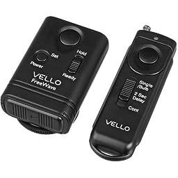 Vello FreeWave Wireless Remote Shutter Release for Nikon w/10-Pin Connection - Nikon: D1, D1H, D1X, D2, D200, D2H, D2Hs, D2X, D2Xs, D3, D300, D300s, D3s, D3x, D4, D4s, D700, D800, D800e and D810, Fuji: S3 and S5 Kodak: DCS-14N