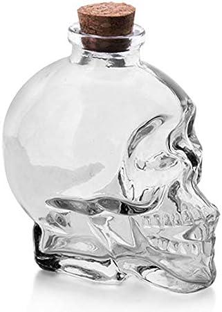 GAOXIAOMEI Decantador De Whisky De Calavera Decantador De Cristal Esquelético con Corcho para Whisky, Whisky O Whisky, Elegante Regalo para Hombres, Papá, Esposo, Novio,B