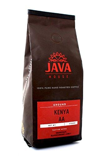 Kenya AA Arabica Ground Coffee, Fair Trade Medium Roast, Single Source Coffee with verifiable Coffee Kenya Mark of Origin by Java House Africa (13.23oz)