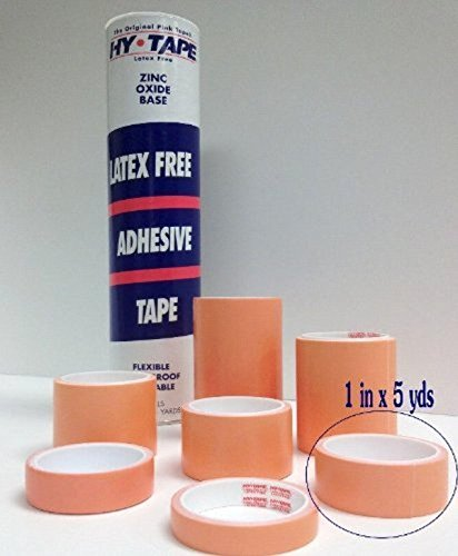 Hy-Tape Pink Tape, 1'' x 5 yards (PACK OF 3), # 10LF - Pink Medical Waterproof Surgical Tape