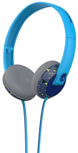Skullcandy Unisex Uprock Mic'd Navy/Hot Lime/Hot Blue Headph