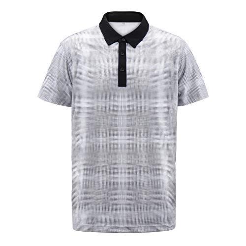 Mtstyle Men's Regular-Fit Cotton Pique Polo Shirt A S