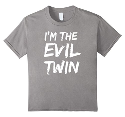 Good Costume Ideas For Twins (Kids Im The Evil Twin | Funny Halloween Horror Shirt 10 Slate)