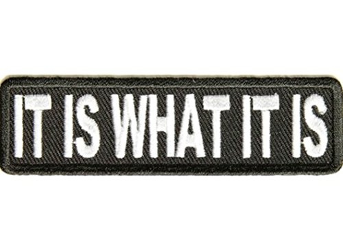 IT IS WHAT IT IS Embroidered Jacket Vest Funny Saying Biker