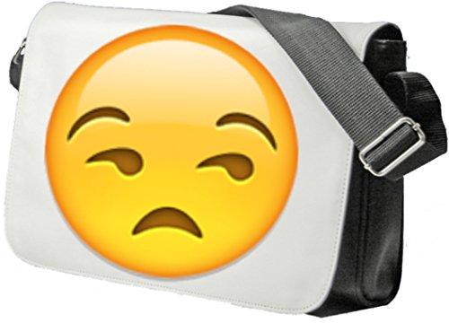Schultertasche Unerfreutes Gesicht Schultasche, Sidebag, Handtasche, Sporttasche, Fitness, Rucksack, Emoji, Smiley
