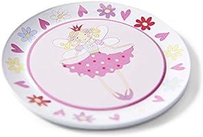 Juego de t/é de juguete de esta/ño y malet/ín con motivos de hadas de Lucy Locket Vajilla infantil de 14 piezas de color rosa