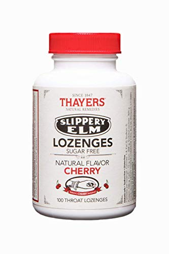 Citrus Lozenges Dry Mouth (Thayers Sugar-Free Cherry Slippery Elm Lozenges (100 count))