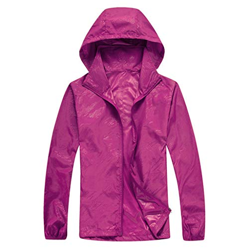 Liberty Waterproof Jacket - Tantisy ♣↭♣ Women Men's Waterproof Outdoor Active Hooded Rain Trench Jacket Sun Protection Clothing Overalls (with Pockets) Purple
