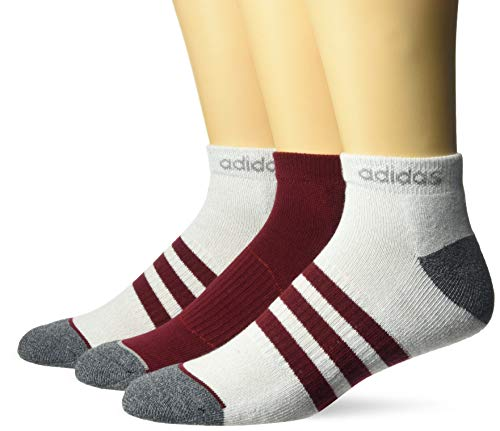 adidas Mens 3-Stripe Low Cut Socks (3 Pack)