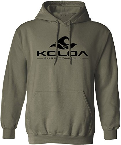 - Koloa Surf Wave Logo Hoodies - Hooded Sweatshirt, S-Military Green