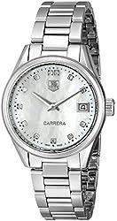 TAG Heuer Women's WAR1314.BA0773 Carrera Analog Display Swiss Quartz Silver Watch