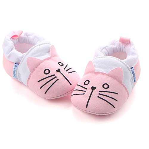 Infant Cat (Save Beautiful Cute Animal Infant Baby Girl Boy Toddler Shoes Sneaker Anti-Slip Soft Sole First Walkers Shoes (6-12 Months, Pink cat))