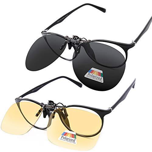 - Polarized Clip on Sunglasses over Prescription Glasses Night Driving