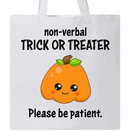 Inktastic - Non-Verbal Trick or Treater- Please be Patient- cute Tote Bag (Cute Halloween Trick Or Treaters)
