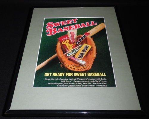 1988 Leaf Candy Jolly Ranchers Clark Bar Framed 11x14 ORIGINAL Advertisement - Clark Bar Candy Bar