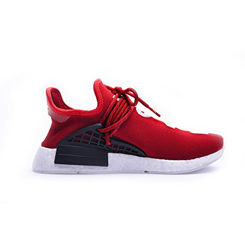 Cedric Dobbin Mens Unisex Lightweight Lace-up Human Sneakers Athletic Sports Running Shoes - PW Red (Men US9.5)