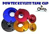 POWTEC Quick Release CNC Billet Keyless Fuel Gas Tank Cap for Kawasaki ZX10R 2006-2015,ZX6R 2007-2015,ZX14R ZZR1400 2007-2015-Black