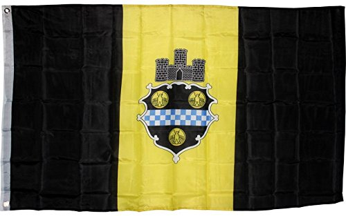 Flag City Pittsburgh (City of Pittsburgh Flag 3x5 ft Seal Emblem Banner Pennsylvania PA Yellow Black)