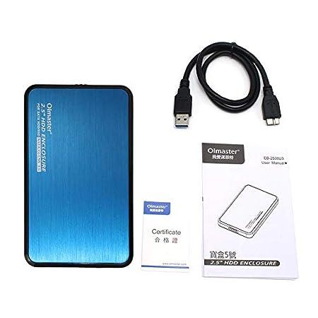 fggfgjg Olmaster EB-2506U3 Caja multifunción Sata USB 3.0 HDD 2.5 ...
